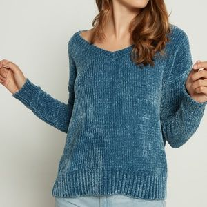 GAP Chenille V-Neck Pullover Sweater Small